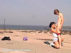 Mad Mary Gets Fucked On The Beach