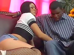 Asian dressed like a slut and going black