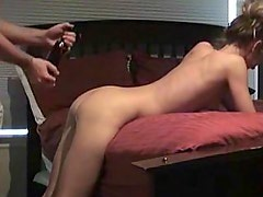 Young girlfriend getting fucked on camera