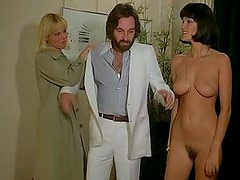 Two hot Milfs share a cock