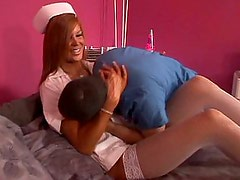 Big titted redhead nurse gets fucked