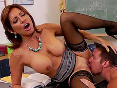 Lick your teacher's pussy, pussy boy