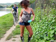 Kinky Latina Wants To Get Wet and Messy Outdoors In Public