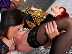 After Work Six Chick Lesbo Free-For-All