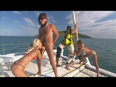 Bikini Loose Tramps Gets Smashed By A Pair Of Horny Guys