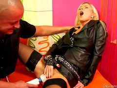 Blonde Babe Vanessa Rides A Horny Cock After Masturbating With A Vibrator