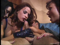 Lucky Dudes Fucked By Several Horny Sluts In Group Sex Orgy