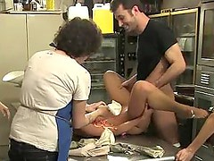 India Summer gets humiliated on a kicthen table