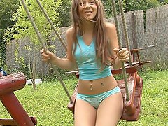 Sweety on a swing