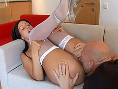 Desperate wife Simone Peach gets a cock ride