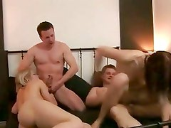 Horny czech couples in a hardcore swingers party