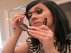 Beautiful Andi Crush does her makeup