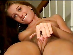 TEEN WITH HAIRY PUSSY AND BIG CLIT