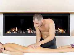 Russian babe fucked by sex machine