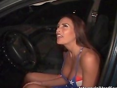 Horny milf with big tits sucks enormous
