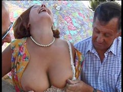 Horny Mature Gets Banged Hard By Three Big Cocks In Foursome