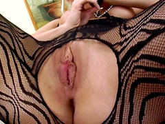 Perra - Lustful Blonde Cindy Dollar In Lingerie Toying Her Cunt With a Dildo