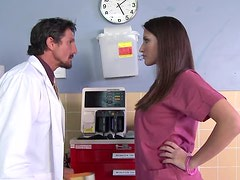 Horny Brunette Patient Gets A Hardcore Fuck From A Doctor