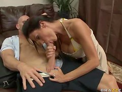 Brunette Milf Gets A Creamy Facial As She Fucks A Big Dick
