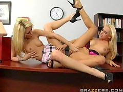 Blonde Lesbians Have Some Girl On Girl Action Ta The Office