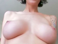 Busty punk babe riding cock