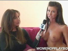 Boob job babe chats and strips