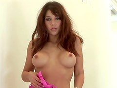 Pink lingerie graces body of Playboy girl