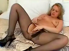 Killing and wondrous angel in black stockings wants fun