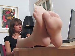 Feet in Nylons