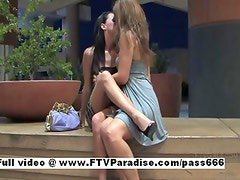 Lovely Gorgeous lesbians kissing and fingering pussy