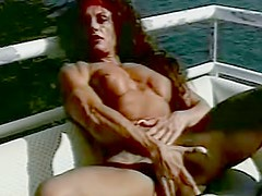 Redhead Francesca Petitjean likes blowjob outdoors