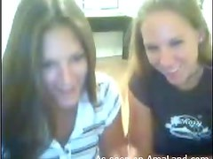 Naughty Teens Have A Lesbian Scene In A Webcam Video