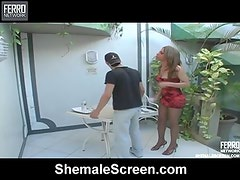 Rafaela gutsy tranny onto video