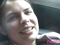 Oral sex in car with czech amateur Zuzinka