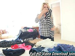 Chloe this cute and bubbly teen getting naked and masturbating
