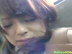 Schoolgirl Fingered And Fucked By Business Man Cum To Ass On The Train
