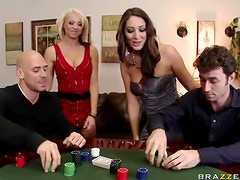 Poker Match Leads To a Swingers Foursome With Big Tits and Big Dicks