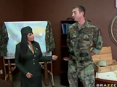Horny General Jenaveve Jolie Fucking Her Star Soldier