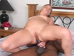 Thick black shaft in her tight asshole