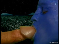 Big Cock Gets Blown By Two Blu Babes In This Threesome Fetish