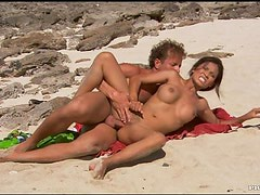 Beach Sex With Busty Asian Babe