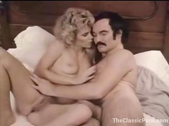 Man with a mustache bangs a hot blonde girl