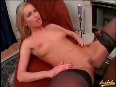 A lusty anal ride on a big black cock