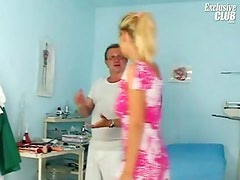 Bambi visiting gyno clinic for bawdy vulva speculum scrutiny