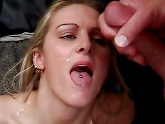 Ashley Long gets her face drenched with warm cum