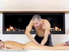 Russian beauty fucked by banging machine