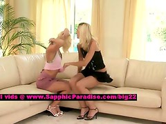 Jenny and Aneta lesbo teen girls licking