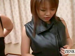 Subtitled Japan busty brothel breast foreplay threesome