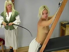 Naughty and graceful blonde is feeling amazing pain