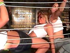 Tequila frogs contest with luscious whacking loving nasty whores